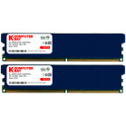 Komputerbay 1GB ( 2 x 512MB ) DDR DIMM (184 pin) 400Mhz PC 3200 Heat Spreaders Low Density CL2.0 1 GB KIT