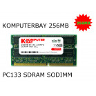 KOMPUTERBAY 256MB 133Mhz PC133 SDRAM SODIMM (144 Pin) Laptop RAM 16Mx16x16 (8 Chip Configuration)