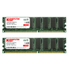 KOMPUTERBAY 2GB (2 x 1GB ) DDR DIMM (184 PIN) 266Mhz PC2100 CL 2.5 HIGH DENSITY DESKTOP MEMORY - Not for Intel based motherboards like Dell, Sony, etc