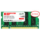 Komputerbay 20-PACK - 2GB DDR2 PC-5300/PC-5400 667MHz 200 Pin SODIMM Laptop Memory