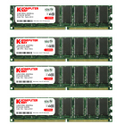 Komputerbay 4GB ( 4 x 1GB ) DDR DIMM (184 pin) 400Mhz PC 3200 Low Density CL3.0 4 GB KIT