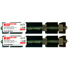 Komputerbay 4GB (2x 2GB) DDR2 PC2-5300F 667MHz CL5 ECC Fully Buffered 2Rx4 FB-DIMM (240 PIN) w/ Heatspreaders for Apple computers