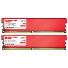 Komputerbay 4GB (2 X 2GB) DDR2 DIMM (240 pin) 1066MHz PC2-8500 Desktop RAM with Red Heatspreaders for extra cooling CL 5-7-7-25