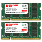 Komputerbay 4GB (2X 2GB) DDR2 667MHz PC2-5300 PC2-5400 (200 PIN) SODIMM Laptop Memory with Hynix Chips