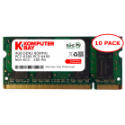 Komputerbay 10-PACK - 4GB DDR2 PC-6300/PC-6400 800MHz 200 Pin SODIMM Laptop Memory
