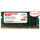 Komputerbay 5-PACK - 4GB DDR2 PC-6300/PC-6400 800MHz 200 Pin SODIMM Laptop Memory
