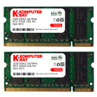Komputerbay 4GB (2 X 2GB) DDR2 SODIMM (200 pin) 667Mhz PC2 5400 / PC2 5300 FOR Toshiba 4 GB KIT
