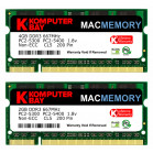 Komputerbay MACMEMORY 6GB Kit (4GB + 2GB Modules) PC2-5300 667MHz DDR2 SODIMM for Apple MacBook Pro early 2008 2.1GHz 2.4GHz 2.5GHz 2.6GHz