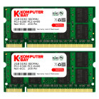 Komputerbay 4GB (2X 2GB) DDR2 800MHz PC2-6300 PC2-6400 (200 PIN) SODIMM Laptop Memory with Samsung Chips