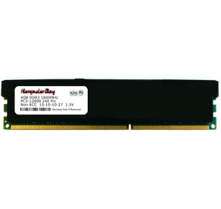 Image for Komputerbay 4GB DDR3 PC3-12800 1600MHz DIMM (240-Pin) Desktop Memory with Black Heatspreaders CL 10-10-10-27 1.5V - XMP Ready