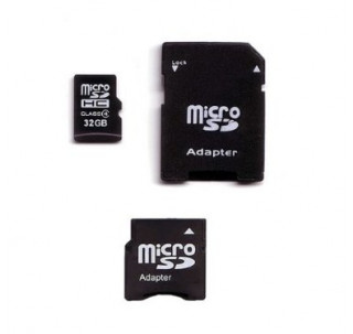 Image for Komputerbay 32GB MicroSD SDHC Microsdhc Class 4 with Micro SD Adapter and Mini SD Adapter
