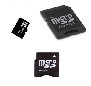 Image for Komputerbay 16GB MicroSD SDHC Microsdhc Class 10 with Micro SD Adapter and Mini SD Adapter