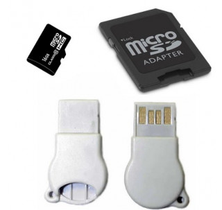 Image for Komputerbay 16GB MicroSD SDHC Microsdhc Class 10 with Micro SD Adapter and N111 USB adapter
