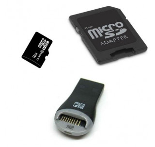 Image for Komputerbay 16GB MicroSD SDHC Microsdhc Class 10 with Micro SD Adapter and SanDisk Mobile Mate reader