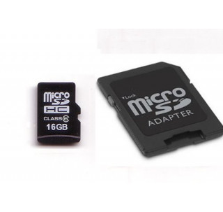 Image for KOMPUTERBAY 16GB microSDHC Memory Card with free SD Adapter  - Ultra High Speed Class 6