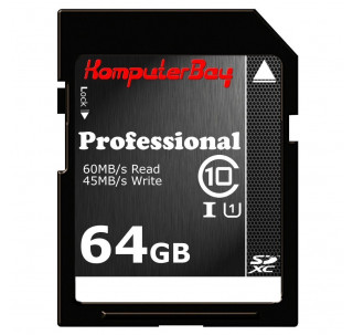 Image for Komputerbay 64GB Class 10 SDXC 60MB/s UHS-I Ultra High Speed Memory Card