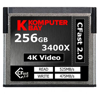 Komputerbay Professional 3400x 256GB CFast 2.0 Card (Up to 525MB/s Read and up to 475 MB/s Write)