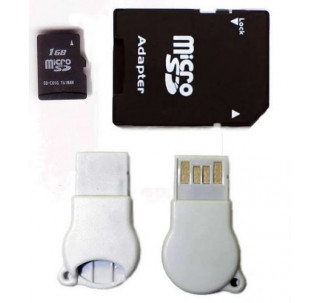 Komputerbay 1GB MicroSD with SD Adapter and N111 USB adapter