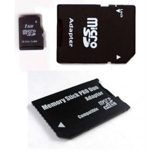 Komputerbay 1GB MicroSD with SD Adapter and Pro Duo Adapter