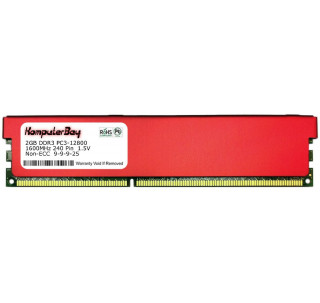 Komputerbay 2GB DDR3 DIMM (240 pin) 1600MHz PC3-12800 Desktop RAM with Red Heatspreaders for extra cooling  CL 9-9-9-25 1.5V - XMP Ready