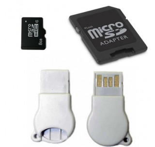 Komputerbay 8GB microSDHC Class 6 with Micro SD Adapter and N111 USB Adapter