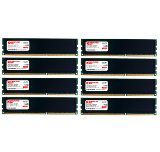 Komputerbay 64GB (8x 8GB) 240 Pin 1600MHz PC3-12800 DDR3 DIMM RAM Desktop Memory with Low Profile Heatspreaders - Black