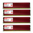 Komputerbay 32GB (4x 8GB) DDR3 PC3-12800 1600MHz DIMM with Red Heatspreaders 240-Pin RAM Desktop Memory 9-9-9-24 XMP ready