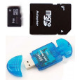Komputerbay 8GB MicroSD SDHC Class 2 with SD Adapter and Blue USB SD Reader