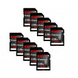 Komputerbay 10-PACK - 128GB SDXC Secure Digital Extended Capacity Speed Class 10 600X UHS-I Ultra High Speed Flash Memory Card 40MB/s Write 90MB/s Read 128 GB