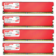 Komputerbay 16GB (4 X 4GB) DDR2 DIMM (240 pin) 800MHZ PC2-6400 PC2-6300 Desktop RAM with Red Heatspreaderss for extra Cooling CL 5-5-5-12