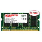 20-Pack Komputerbay 1GB DDR PC2700 333MHz SODIMM laptop memory