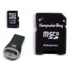 Komputerbay 32GB MicroSD SDHC Microsdhc Class 6 with Micro SD Adapter and USB Reader