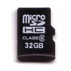 Komputerbay 32GB MicroSD SDHC Microsdhc Class 6 with Micro SD Adapter and Blue USB SD Reader