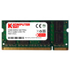 Komputerbay 4GB DDR2 SODIMM (200 pin) 667Mhz PC2-5400 / PC2-5300 CL 5.0 1.8v Unbuffered NON-ECC DDR2-667 Memory Module