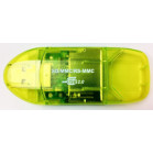 Komputerbay 10 in 1 SD/SDHC/MMC USB Reader - Yellow-green