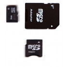 Komputerbay 8GB MicroSD SDHC Class 2 with SD Adapter and Mini SD Adapter