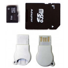 Komputerbay 8GB MicroSD SDHC Class 2 with SD Adapter and N111 USB adapter