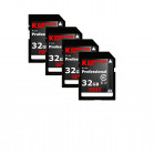 Komputerbay 4-PACK - 32GB SDHC Secure Digital High Capacity Speed Class 10 600X UHS-I Ultra High Speed Flash Memory Card 40MB/s Write 90MB/s Read 32 GB