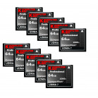 KOMPUTERBAY 10-PACK - 64GB Professional COMPACT FLASH CARD CF 1000X 155MB/s Extreme Speed UDMA 7 RAW 64 GB