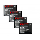 KOMPUTERBAY 4-PACK - 128GB Professional COMPACT FLASH CARD CF 1000X 150MB/s Extreme Speed UDMA 7 RAW 128 GB