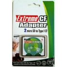 Komputerbay Compact Flash Card Adapter 2 MicroSD/MicroSDHC/MicroSDXC to High Speed CF TYPE I
