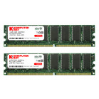 KOMPUTERBAY 2GB (2 x 1GB ) DDR DIMM (184 PIN) 400Mhz PC3200 CL 3.0 HIGH DENSITY DESKTOP MEMORY - Not for Intel based motherboards like Dell, Sony, etc