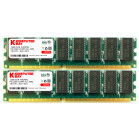 Komputerbay 2GB (2x 1GB) DDR PC3200 400MHz DIMM Low Density Desktop RAM for AMD based motherboards only - will not work on Intel based motherboards including Dell, Sony, etc