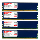 Komputerbay 32GB ( 4 X 8GB ) DDR3 PC3-12800 1600MHz DIMM with Low Profile Blue Heatspreaders 240-Pin Dual / Quad Channel RAM Desktop Memory KIT 9-9-9-24 XMP ready