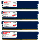Komputerbay 4GB ( 4 x 1GB ) DDR DIMM (184 pin) 400Mhz PC 3200 Low Density Heat Spreaders CL2.0 4 GB KIT