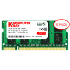 Komputerbay 5-PACK - 4GB DDR2 PC-5300/PC-5400 667MHz 200 Pin SODIMM Laptop Memory made with Micron semiconductors