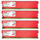 Komputerbay 8GB (4 X 2GB) DDR2 DIMM (240 pin) 1066MHz PC2-8500 Desktop RAM with Red Heatspreaders for extra cooling CL 5-7-7-25