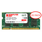 Komputerbay 20-PACK - 1GB DDR2 PC-5300/PC-5400 667MHz 200 Pin SODIMM Laptop Memory with Hynix semiconductors