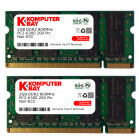 Komputerbay 4GB (2 X 2GB) DDR2 SODIMM (200 pin) 800Mhz PC2 6400 / PC2 6300 FOR Toshiba 4 GB KIT