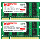 Komputerbay 8GB 2x 4GB DDR2 PC-6300/PC-6400 800MHz 200 Pin SODIMM Laptop Memory made with Micron semiconductors